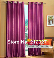 140X250 CM 100% polyester Taffeta window curtain with grommet ,Europe Gauze Curtain 8 colors 2pcs/lot Free Shipping
