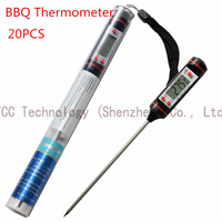 20PCS/LOT Meat Thermometer Kitchen Digital Cooking Food Probe Electronic BBQ Thermometer Cooking Tools Food Thermometer