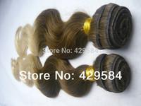 Fashion! 5a Body Wave T #4/22 3pcs lot ombre weft, Virgin Brazilian Remi Hair extension,/weaving, Free Shipping