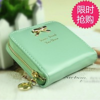 2013 women's coin purse girls zipper bow women's coin case wallet women's wallet