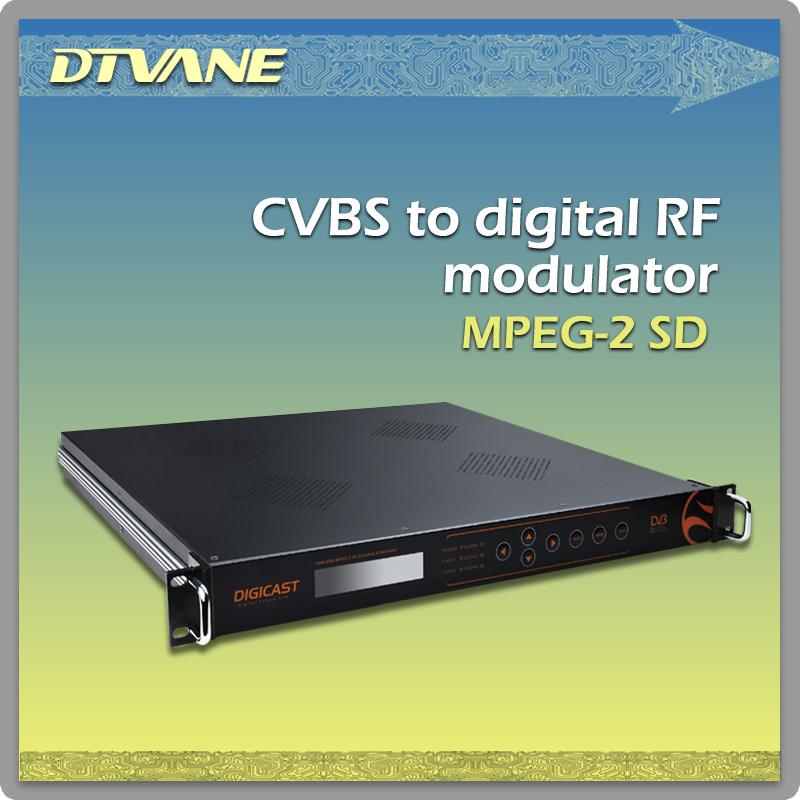 DMB-9580 CVBS to Digital RF Modulator, turn Composite Signal to Real Digital RF for Broadcast Level Digital TV Application(China (Mainland))