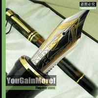 Kaigelu 316 Century Stars Brown Celluloid Black Swirls Medium Nib Fountain Pen Gold Trim