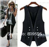 Free shipping 2014 spring fashion handsome lady vest ,  Plus size women suit vest , size S-XXXL