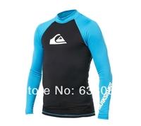 Free shipping 50+ UPF Male Rash Guard Tops Water Sport Men Swimwear Body Suit Lycra Wetsuit for Snorkeling Windsurfing Surfing