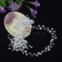 Crystal Pearls handmade jewelry bridal head flower headdress wedding dress accessories hair accessories XH1008