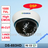 "1/3"" 800TVL Vandalproof  Security CMOS CCTV Cameras,20m IR range with DSP,3.6 mm lens with IR CUT DS-693HD"