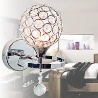 free shipping Modern brief gold double slider k9 crystal wall lamp art lamp bed-lighting mirror light frha b18
