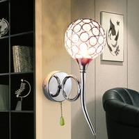 free shipping Modern brief fashion gold k9 crystal wall lamp art lamp ofhead mirror