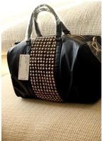 free shipping Mango women's handbag mng bag mango metal rivet women's handbag bag shoulder bag