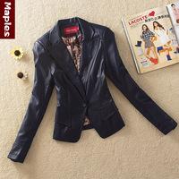 2014 spring and autumn clothing genuine leather sheepskin women's slim coat leather clothing women's short design