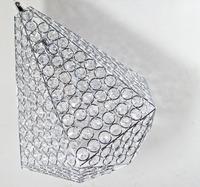 free shipping Lamp modern brief k9 crystal pendant lamp oval hrhc 12