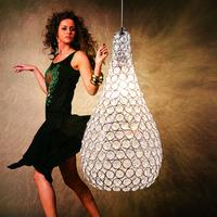 free shipping Lamp modern brief k9 crystal pendant lamp lighting lamps