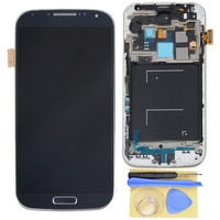 Free Shipping  LCD Touch Screen Digitizer Assembly With Frame For  Samsung Galaxy S4 IV i545 L720 R970 Blue