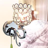 free shipping Brief modern crystal gold double slider wall lamp ofhead frha b50