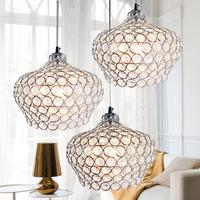 free shipping Lamp brief modern crystal pendant lamp art pendant light frch-76