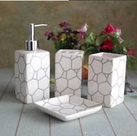 New 2014 white ceramic bathroom set, high quality fashion bathroom accessories,4pieces/lot free shipping,bathroom set ceramic
