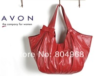 New arriving 2014 hot selling womens handbag sweet bow claretred dumplings bag free shipping  in Spring and Autumn