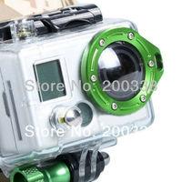 Green Aluminum GoPro Lanyard Ring Lens ring Mount For Gopro Hero2