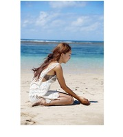 Free shipping 2014 summer sexy women casual camisole t-shirt hollow-out hook flower knitting tops 4 colors