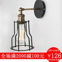 Hoaxed small led wall lamp american vintage aisle lights