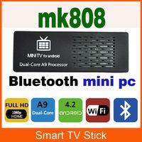 Wholesale MK808B/MK802III Dual Core Mini PC Android 4.2 Smart TV Stick RK3066 RAM 1GB Rom 8G mini computer multimedia player