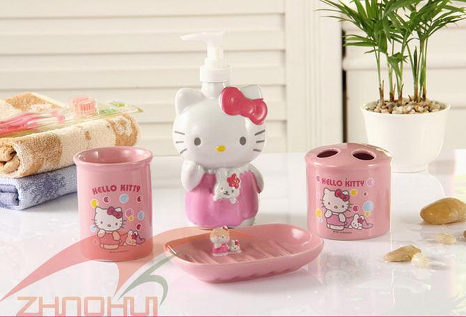 Set De Baño Hello Kitty:Hello Kitty Bathroom Accessory Set
