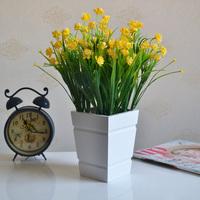 Modern brief wool square white vase home decoration flower tub dining table vase