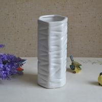 Hexagonal white ceramic vase decoration home decoration vase modern fashion porcelain bottle