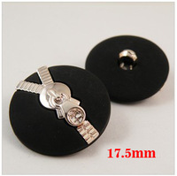 Fashion black color plating plastic shank buttons, 17.5mm, sewing accessories, Plastic buttons (SS-201-1)