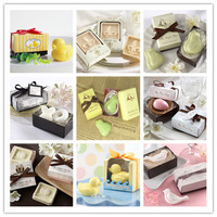 20pcs/lot handmade soap for wedding scented soap mini baby shower soap with gift package free shipping