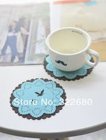 Free shipping Small animal color lace silicone coaster placemat