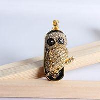 jewelry usb gadgets necklace 8gb 16gb 32gb owl animal crystal usb flash drive flash usb drive pendrives usb memory gift