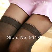 New Arrival 2014 Summer Fashion Women's Pantyhose Stereoscopic Stretch Slim False Splice Soft Black Tights W016