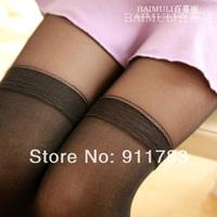 New Arrival 2014 Summer Fashion Women's Pantyhose Stereoscopic Stretch Slim False Splice Soft Black Tights W016