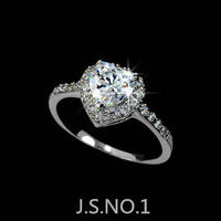 CZ  Wedding Ring 18K Gold Plated Engagement Fashion Crystal  Jewelry For Man And Women Wholesale-XL00592