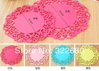 Free shipping Fashion pattern silicone insulation pad anti-fouling hot plate mat mat bowls mat