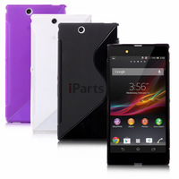 2 Pcs/lot S-Line Elegant Matte Clear Gel TPU Translucent Colorful Soft Case Cover Skin for Sony Xperia Z Ultra XL39h