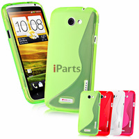2 Pcs/lot S-Line Elegant Matte Clear Gel TPU Translucent Colorful Soft Case Cover Skin for HTC One X