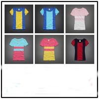 Free Shipping ! 2014 Newest Sport Women's shirt ,Brand shirt ,O-neck ,Casual women's shirt ,100% cotton