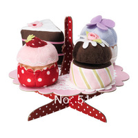 100% polyester  serving stand with cupcakes set  kids toys