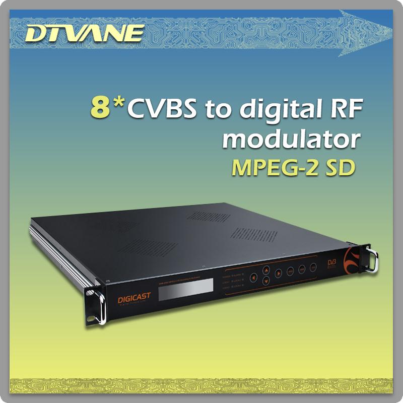 DMB-9580 8*CVBS to Digital RF Modulator, turn 8 Composite Signal to Real Digital RF, High Compact with 1U,19inch(China (Mainland))