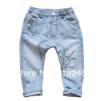 New Spring 2014 Brand Designer Denim Soft Harem Children Pants /Kids Jeans/ Boys Girls Jeans/ Jeans for boys Free Shipping A180