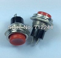 100pcs/lot Dia 16mm button switch 1NC Momentary type push button 2-pin terminal