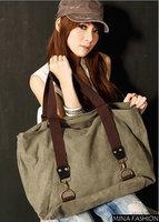 2014 New Spring Women Handbag messenger bags  Canvas Texture Of High-capacity Portable Shoulder bags bg-4313