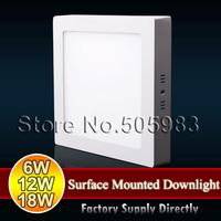Fedex DHL 10PCS 6W 12W 18W SMD 2835 220V Kitchen Bathroom Hotel Modern Design LED Ceiling or Wall Surface Mounted Slim Downlight