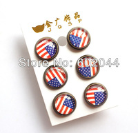 wholesale New 24 Pair Beautiful  American Flag girl's cute fashion Popular Earrings Free shipping