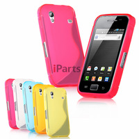 2 Pcs/lot S-Line Elegant Matte Clear TPU Colorful Soft Case Cover Skin for Samsung Galaxy Ace S5830