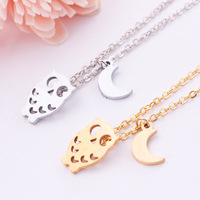 New 2014 Fashion vintage Cute OWL pendant necklace !wholesale 10 pce/lot mix color Free shipping!