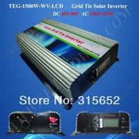 1500W On Grid Tie Solar Power Inverter With LCD display DC 45V-90V Input AC 190V-260V Output