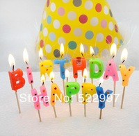free shipping party supplies child adult birthday party supplies happy birthday letter candle birthday candle